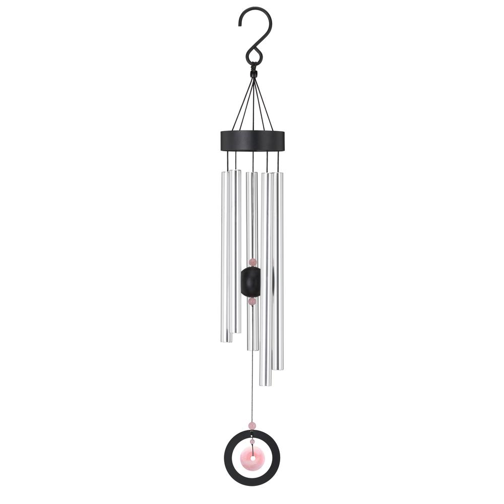 d3964d87c Regal Precision-Tuned Healing Stone 32 in. Wind Chime - Rose Quartz ...