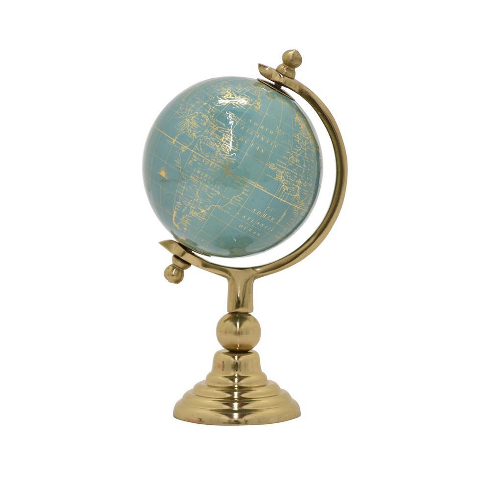 10 in. Metal Globe 5 in. - Nickel Base in Green