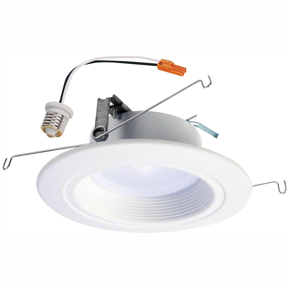 Halo rl 5 in and 6 in white wireless smart integrated led recessed downlight ceiling fixture selectable color temperature