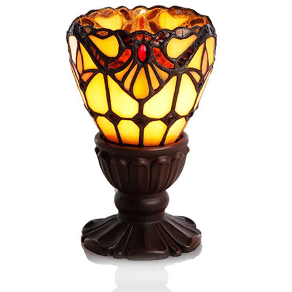 6.5 in. Amber Allistar Uplight Memory Lamp