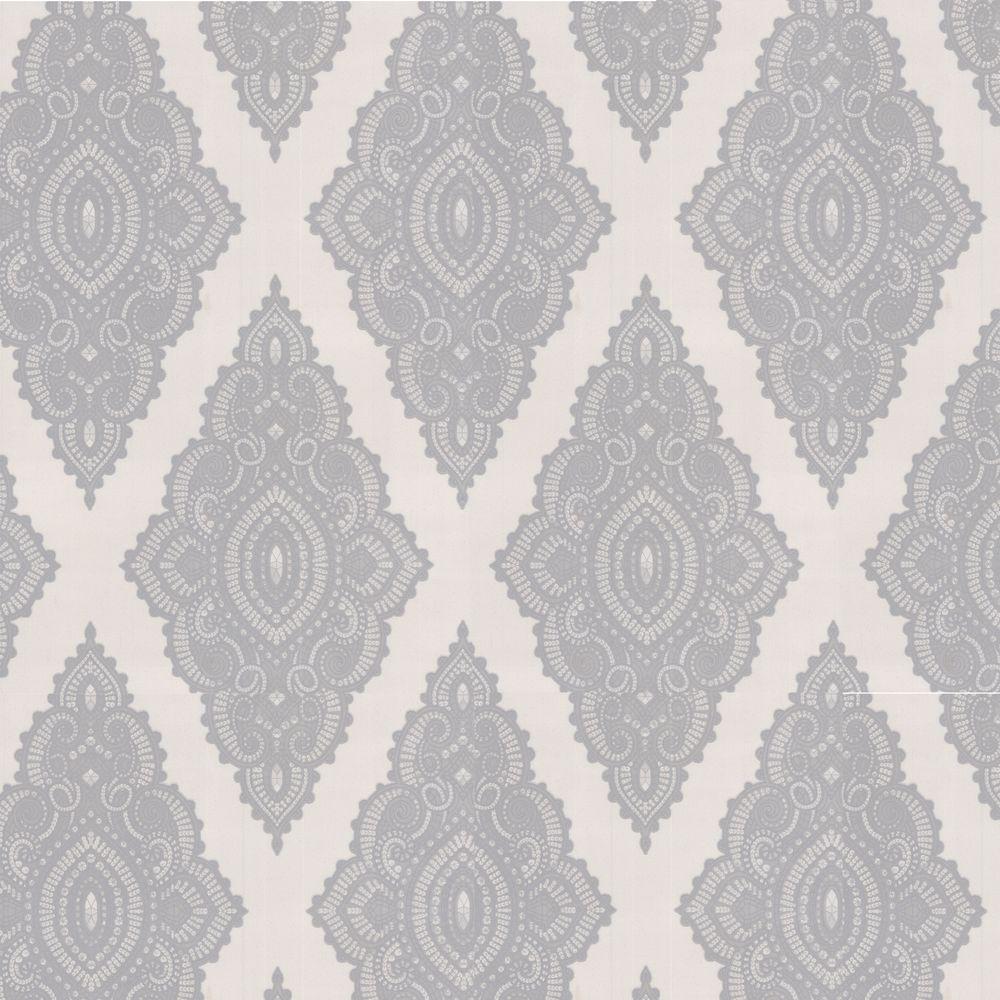 Jewel White Removable Wallpaper
