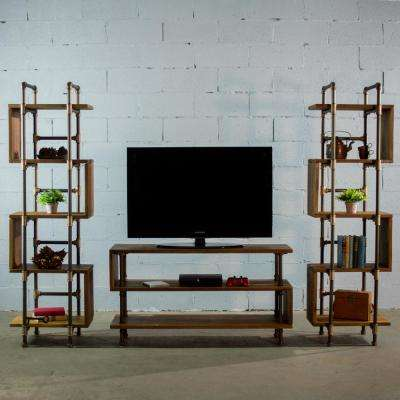 Industrial Tv Stands Living Room Furniture The Home Depot