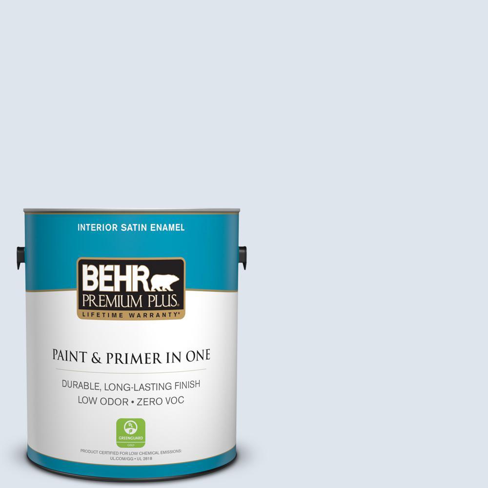 BEHR Premium Plus 1-gal. #570E-1 Glass Bead Zero VOC Satin Enamel Interior Paint