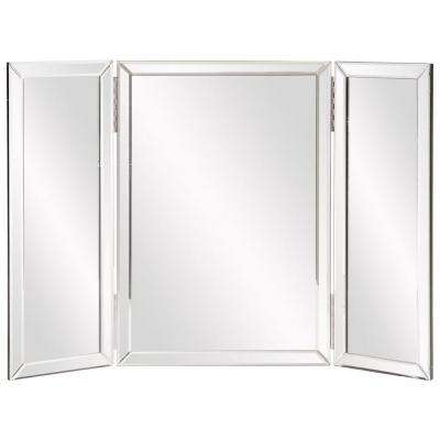 21 in. x 31 in. Wood Vanity Framed Mirror