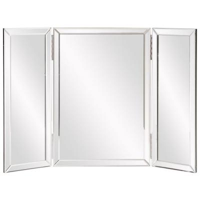 Medium Rectangle Mirrored Beveled Glass Contemporary Mirror (21 in. H x 31 in. W)