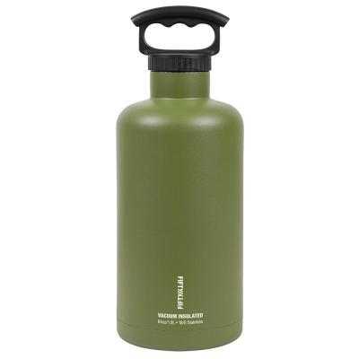 Vacuum-Insulated Tank Growler 64 oz. Olive Green