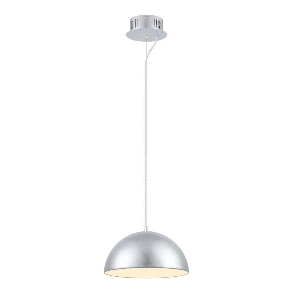 eglo gaetano 1 light silver integrated led large pendant 92951a the home depot. Black Bedroom Furniture Sets. Home Design Ideas