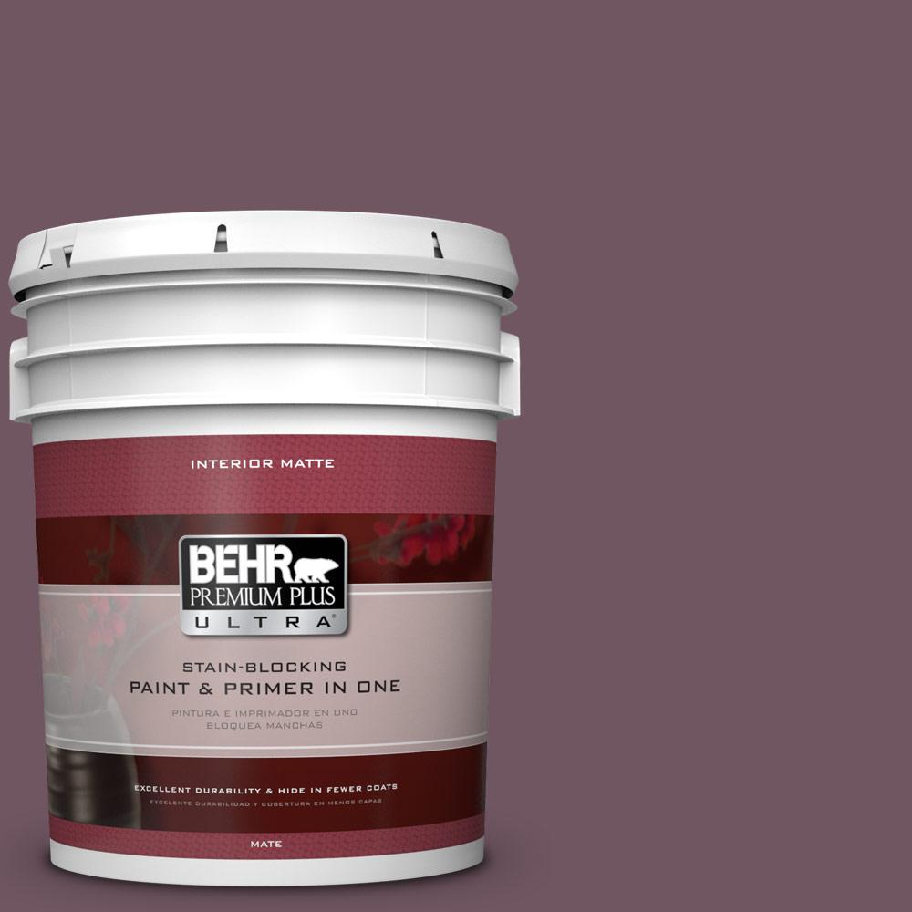 BEHR Premium Plus Ultra 5 gal. #S110-7 Exotic Eggplant Matte Interior Paint