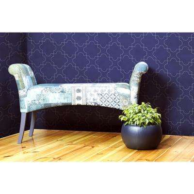Debut Collection Puzzle in Navy Removable and Repositionable Wallpaper