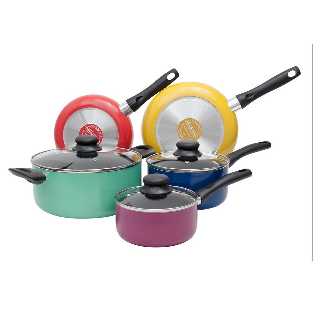 8-Piece Multi-Color Cookware Set