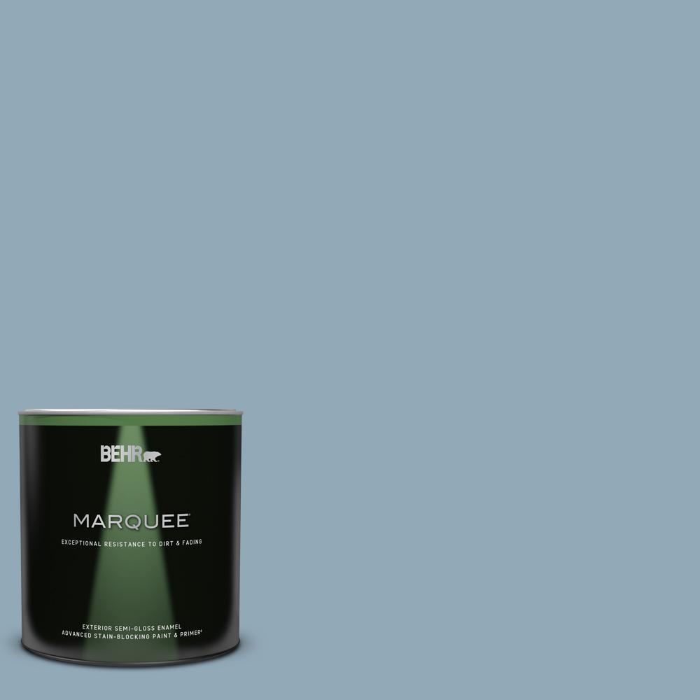 Behr Marquee 1 Qt Ppu14 09 Windsurf Semi Gloss Enamel Exterior Paint Primer 545404 The Home Depot