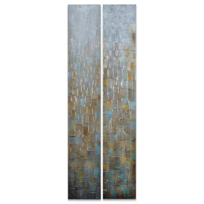 """72 in. x 12 in. """"Cosmopolitan"""" - Set of 2 Textured Metallic Hand Painted by Martin Edwards Wall Art"""