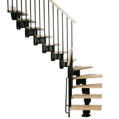 "Kompact 29 in. Black Modular Staircase ""L"" Kit"