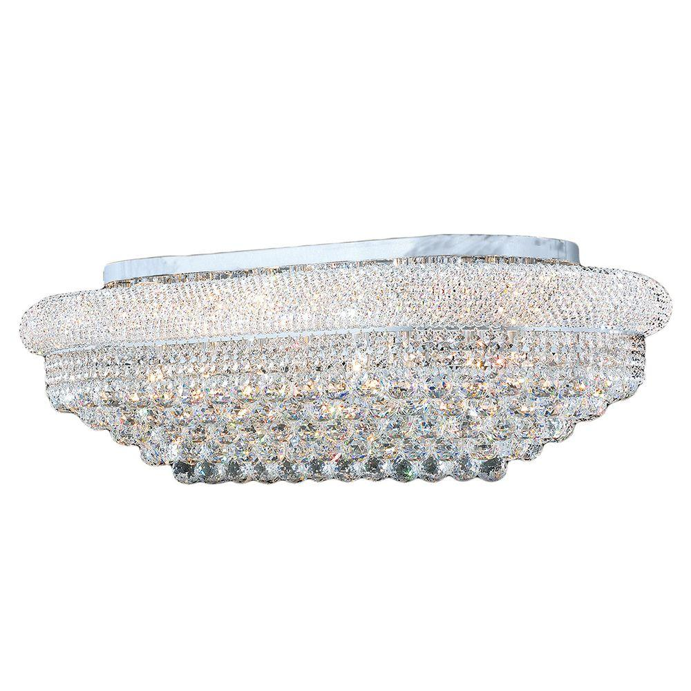 Empire Collection 18-Light Chrome and Crystal Ceiling Light
