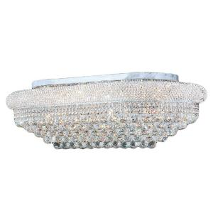 Worldwide Lighting Empire Collection 18-Light Chrome and Crystal Ceiling Light by Worldwide Lighting