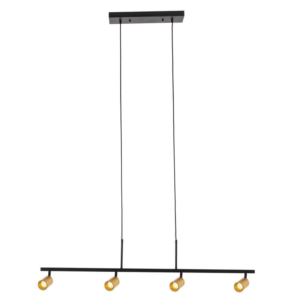 VidaLite 7-Watt 3000K 4-Bulb 1960 Lumens Gold Spot Light Hanging LED Fixed Track Pendant Light