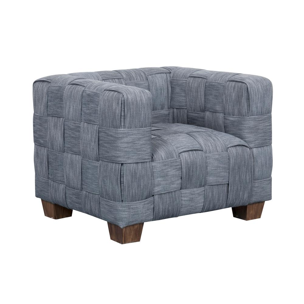 Cool Homefare Woven Indigo Accent Chair Ds D192 707 The Home Depot Gmtry Best Dining Table And Chair Ideas Images Gmtryco