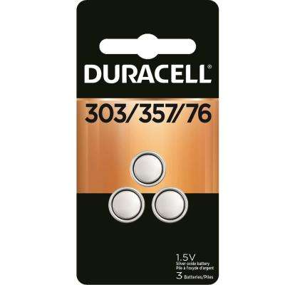 303/357 Silver Oxide Button Battery (3-Pack)