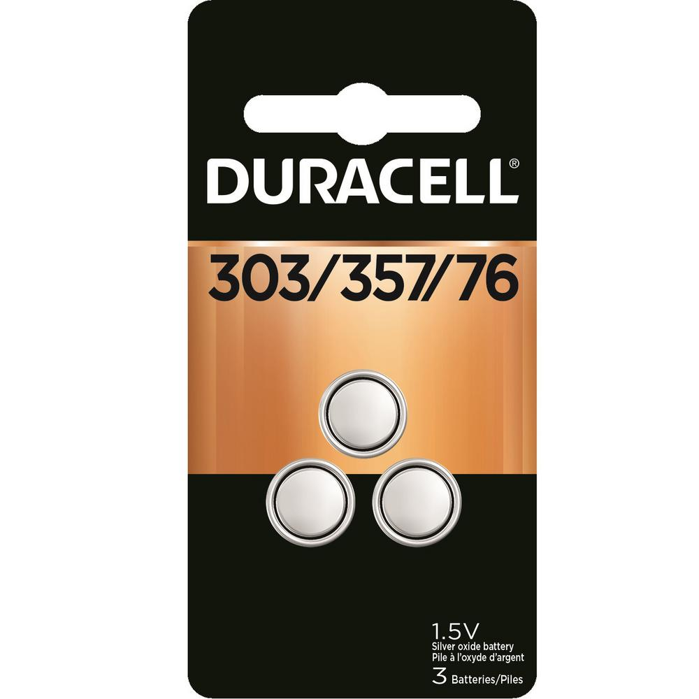 Duracell 303/357 Silver Oxide Button Battery (3-Pack)