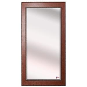 Oversized Brown With Age Accents Wood Beveled Glass Southwestern Mirror (70 in. H X 29.5 in. W)