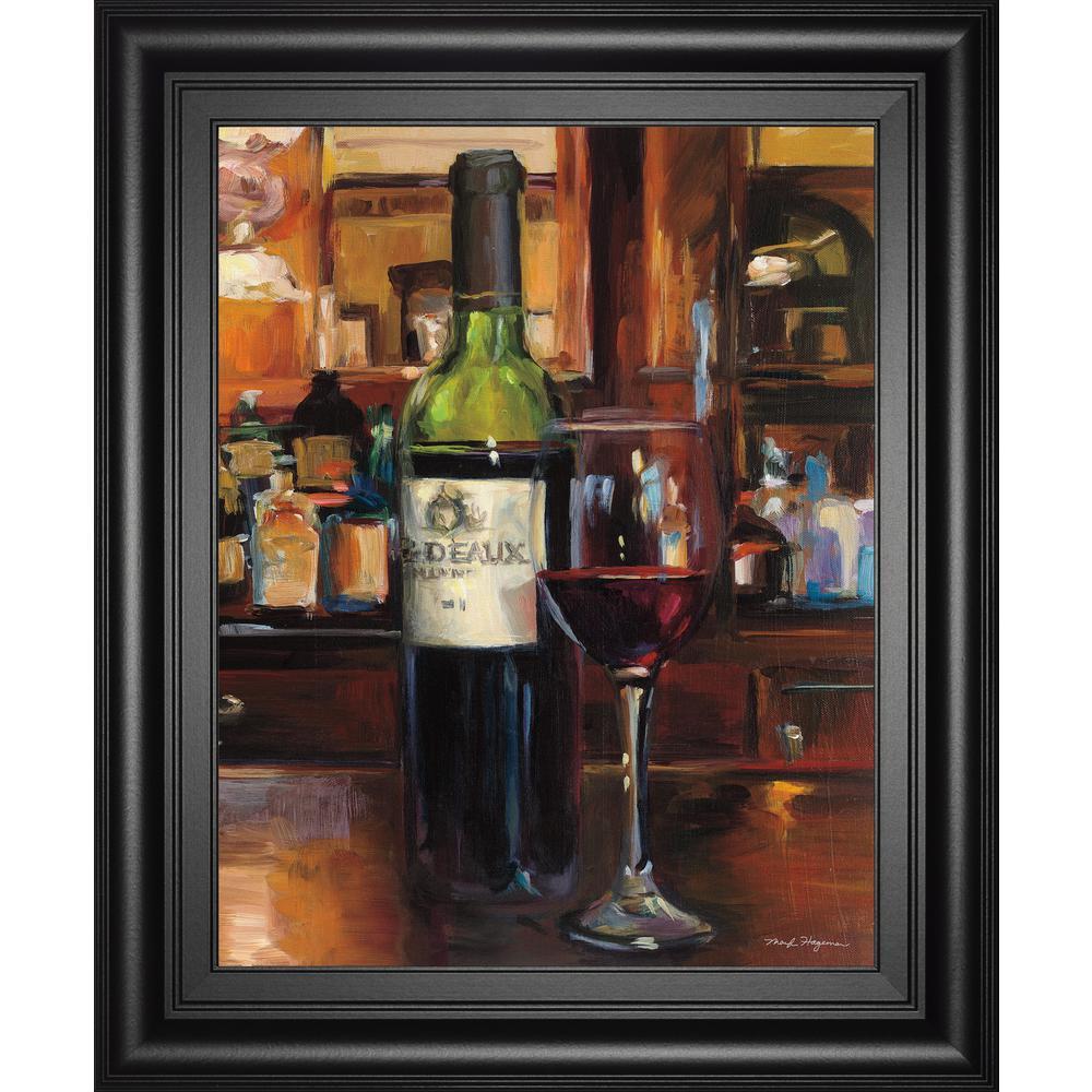 "22 in. x 26 in. ""A Reflection of Wine III"" by Marilyn Hagmeman Framed Printed Wall Art"