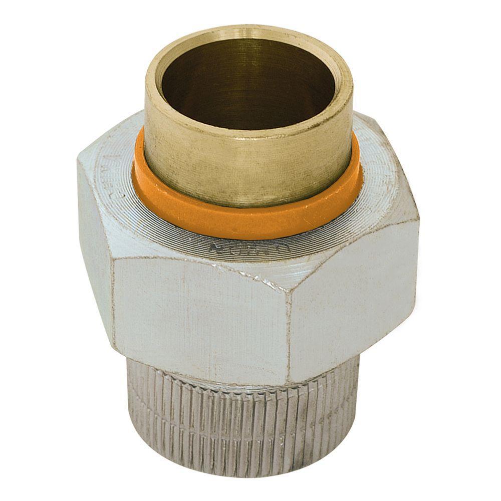 Eastman 1-1/2 in. x 1-1/2 in. Brass FIP x Solder Dielectric Union