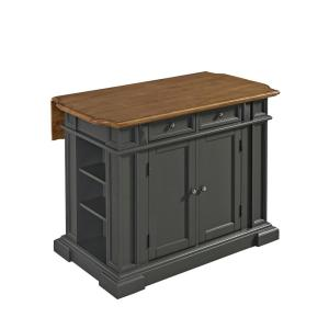 Americana Grey Kitchen Island With Drop Leaf