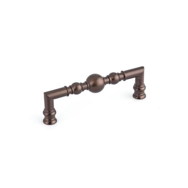 5-1/16 in. (128 mm) Center-to-Center Honey Bronze Traditional Drawer Pull