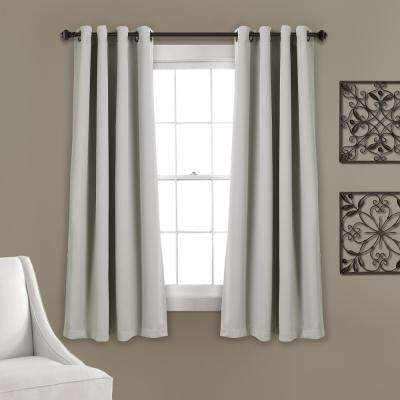 "Lush Décor Insulated Grommet Blackout Window Panels Light Gray 63"" x 52"" 2-Pc Set 100% Polyester"
