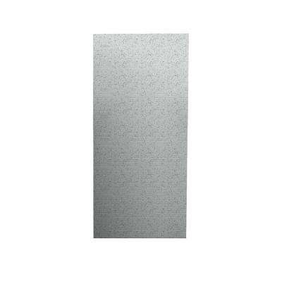 Geometric 1/4 in. x 36 in. x 96 in. One Piece Easy Up Adhesive Shower Wall in Tahiti Gray