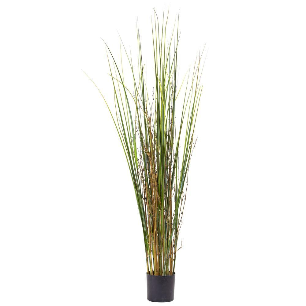 Nearly Natural 4 Ft Grass And Bamboo Plant 6829 The Home Depot