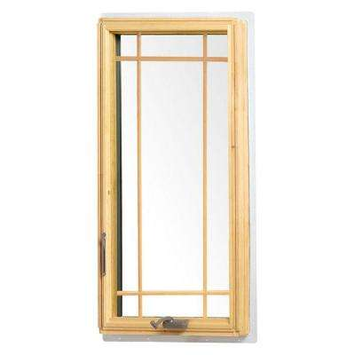 24.125 in. x 48 in. 400 Series Casement Wood Window with White Exterior and Prairie Grilles