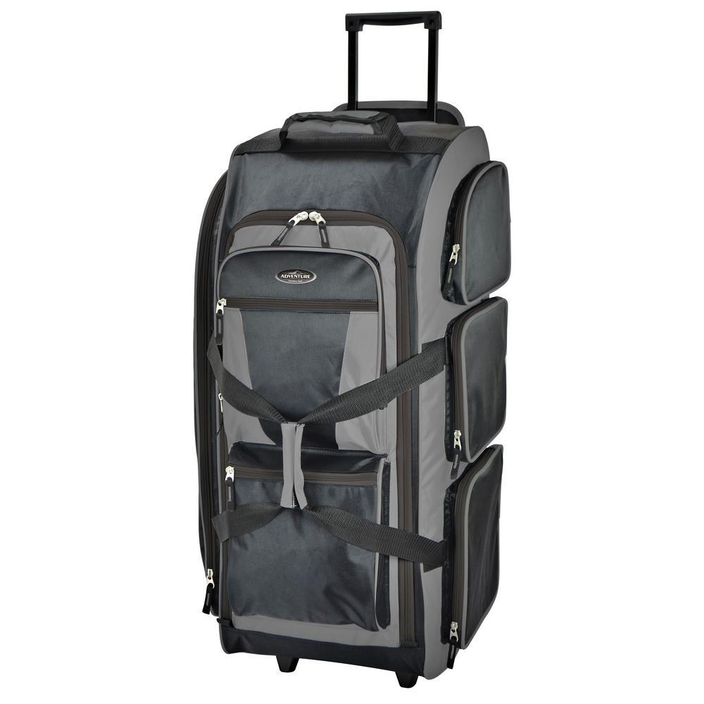 Travelers Club 30 in. Multi-Pocket Upright Rolling Duffel Bag-85130 ... 6c720185bc