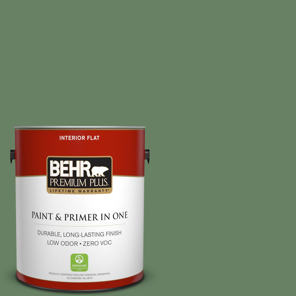 BEHR Premium Plus 1-gal. #S390-6 Cliffside Park Flat Interior Paint