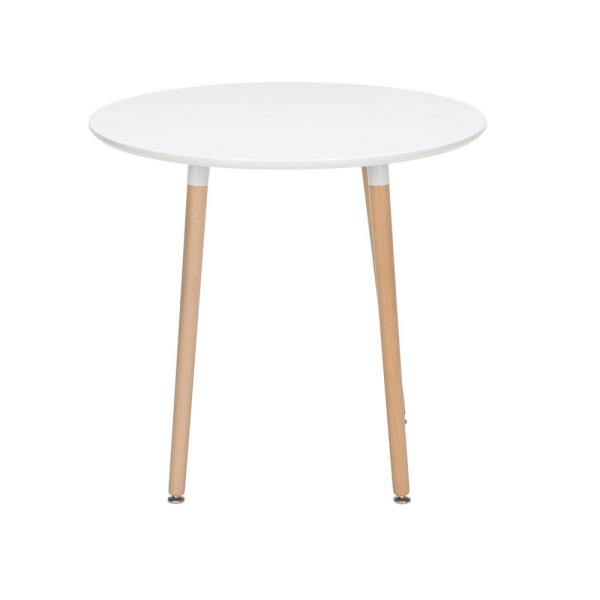 Ofm 161 Collection Mid Century Modern 32 Round Dining Table Solid Wood Legs In White 161 Pt32 Wht 161 Pt32 Wht The Home Depot
