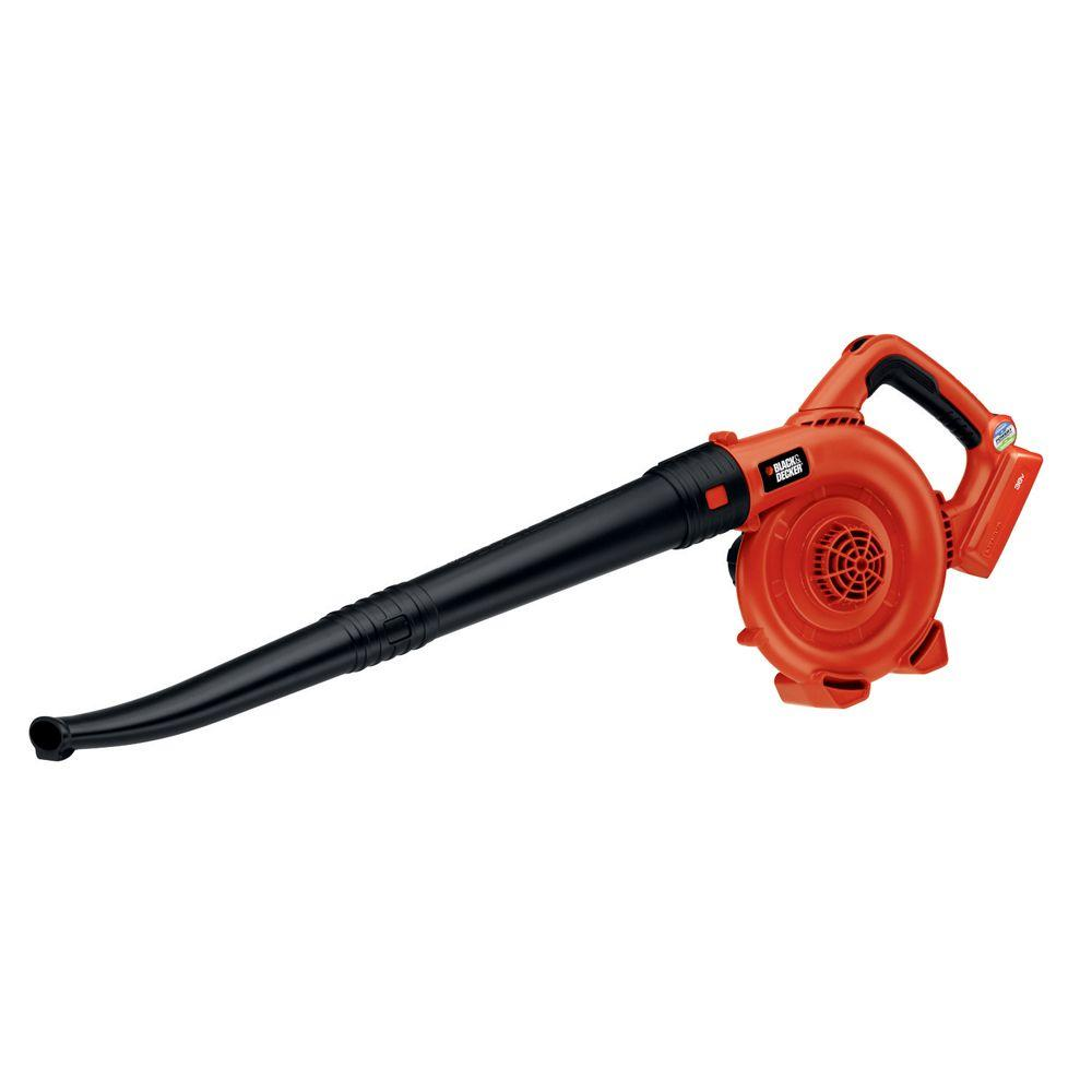 BLACK+DECKER 120 MPH 90 CFM 40-Volt MAX Lithium-Ion Cordless Handheld Leaf Sweeper (Tool Only)