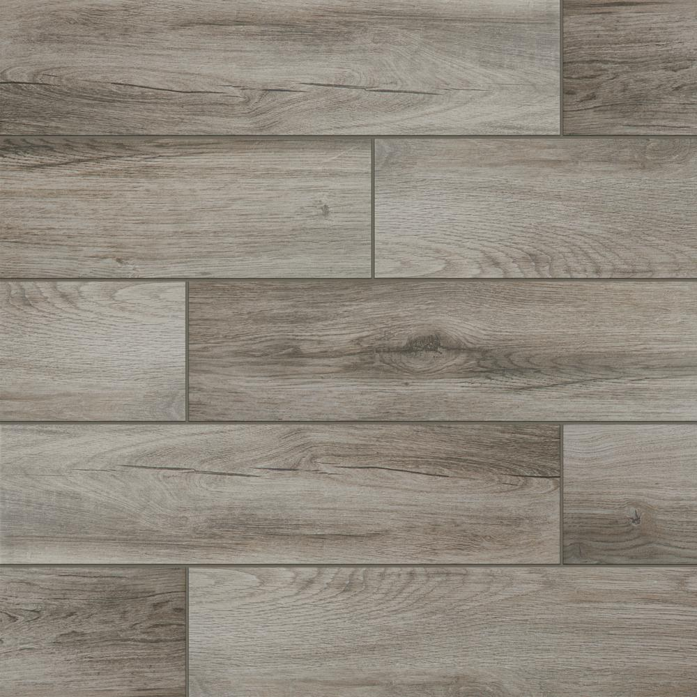 LifeProof Shadow Wood 6 in. x 24 in. Porcelain Floor and Wall Tile ...