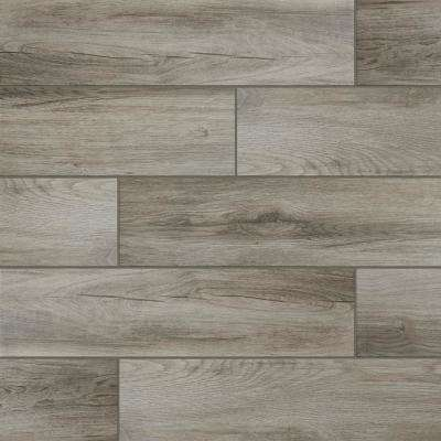Shadow Wood 6 In X 24 Porcelain Floor And Wall Tile 14 55