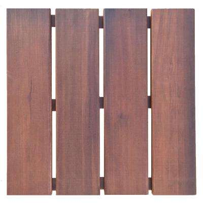 Floor-To-Go 1 ft. x 1 ft. Non-Slip Thermo-Treated Wood Deck Tile in Brown
