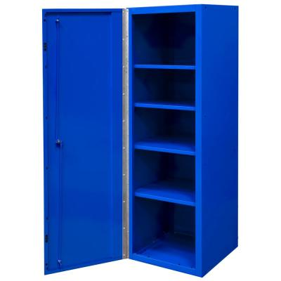 DX 19 in. 4-Shelf Side Locker Tool Chest in Blue with Black Handle