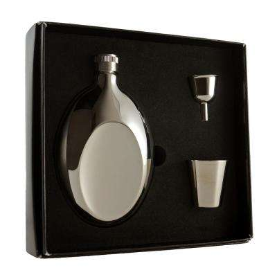 Winchester 6 oz. Polished Stainless Steel Flask Gift Set