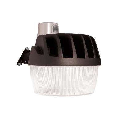 Bronze Outdoor LED Area and Wall Dusk to Dawn Security Light with Replaceable Photo Control, 5500 Lumens