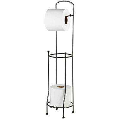 Toilet Paper Holder and Dispenser in Black