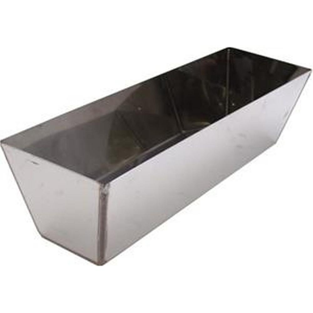 12 in. Heli-Arc Stainless Steel Drywall Mud Pan