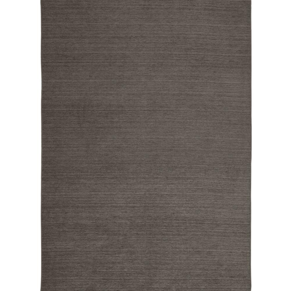 Ruggable Washable Solid Rich Grey 5 Ft X 7 Stain Resistant Area Rug