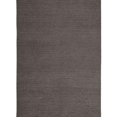 Washable Solid Rich Grey 5 ft. x 7 ft. Stain Resistant Area Rug