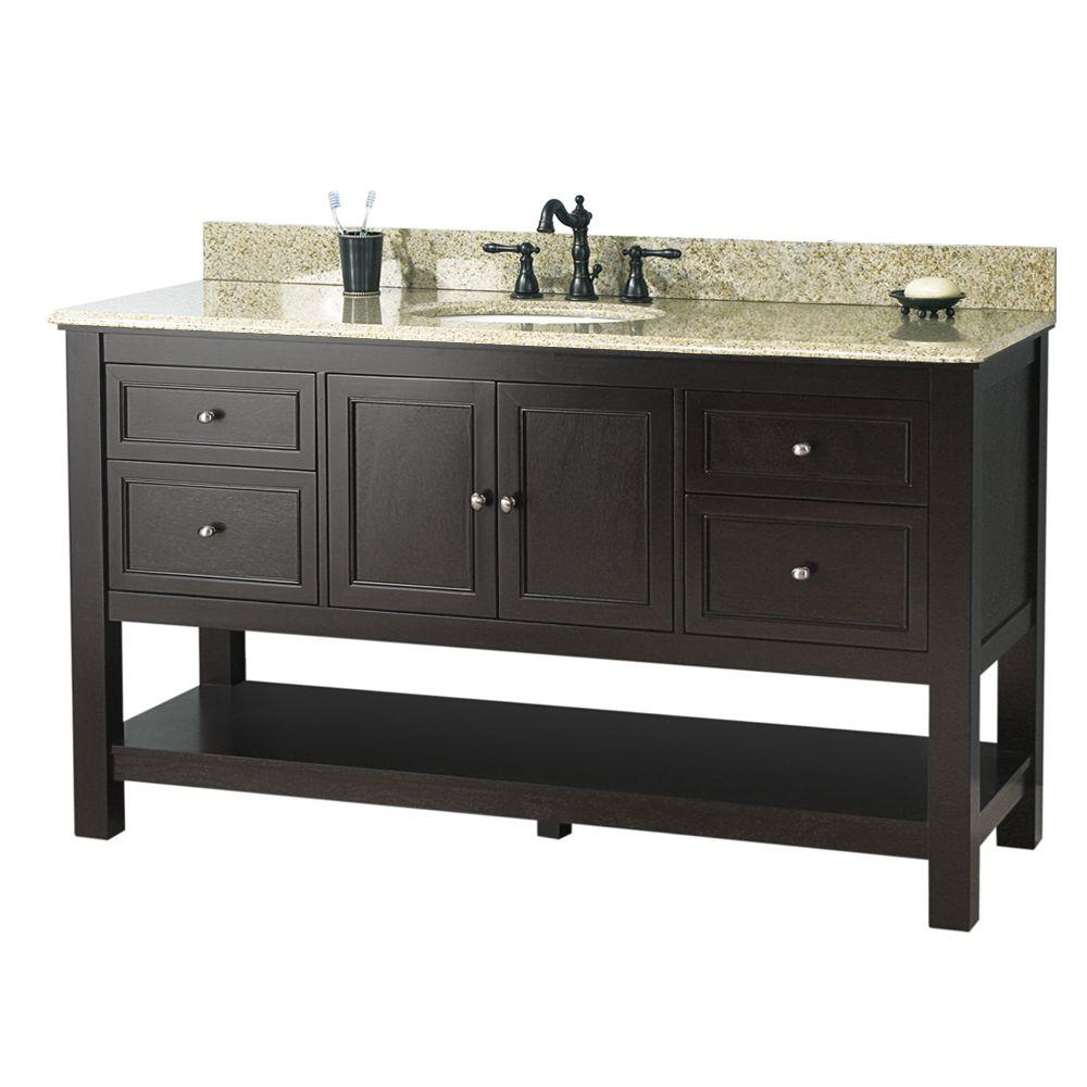single sink double vanity. D Bath Vanity in Cottage  Bathroom Vanities The Home Depot