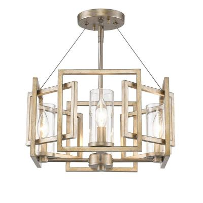 Marco 4-Light White Gold Semi-Flush Mount