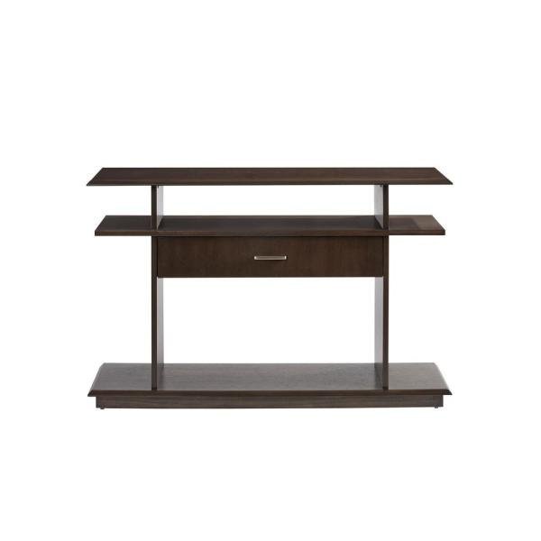 Xanadu 48 in. Dark Espresso Rectangle Wood Console Table with Drawers