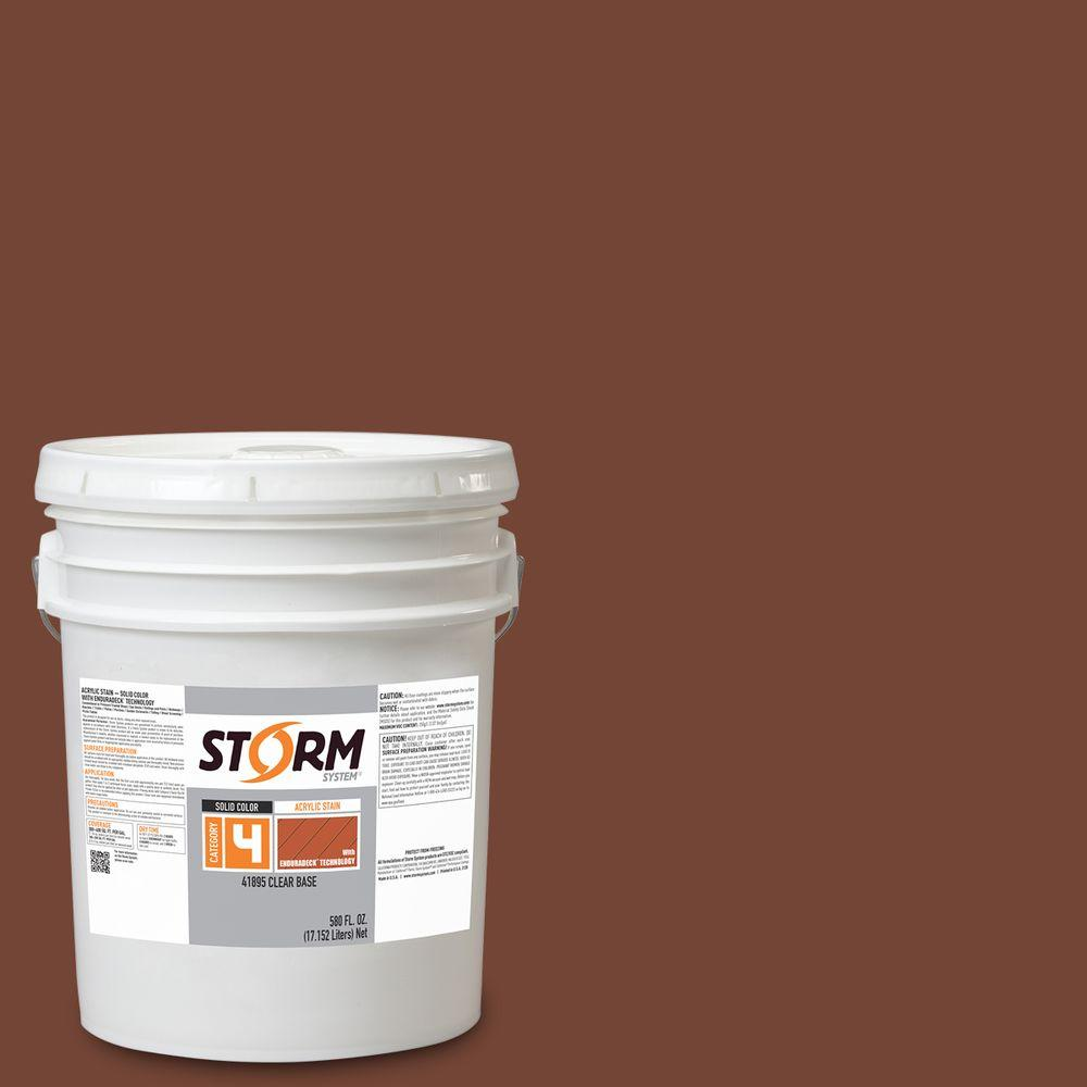 Storm System Category 4 5 gal. Melted Chocolate Exterior Wood Siding, Fencing and Decking Latex Stain with Enduradeck Technology